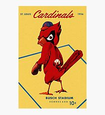 St. Louis Cardinals 1956 Scorecard Photographic Print