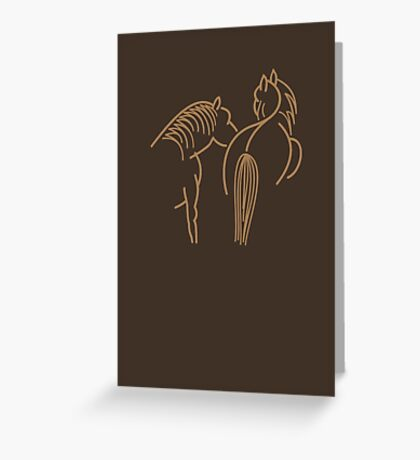 Two Horses VRS2 Greeting Card