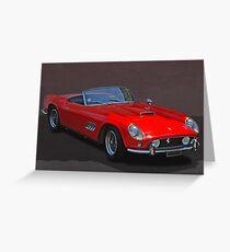 Ferrari Roadster Greeting Card