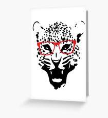 Nerdy Leopard Greeting Card