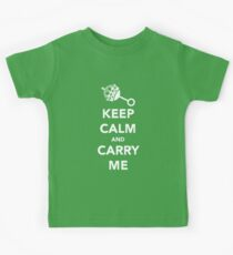 Keep Calm and Carry Me Kids Tee