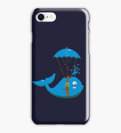 Sky Diving Whale VRS2 iPhone Case/Skin