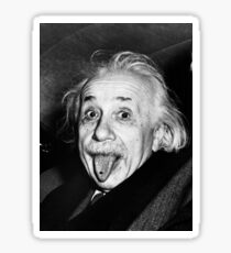 Einstein Tongue Ring Sticker
