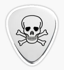 Skull & Bones Plectrum Sticker