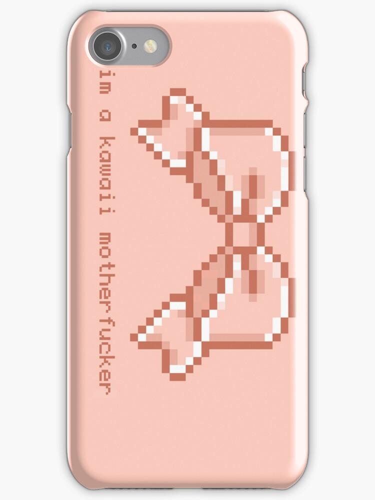 Kawaii motherfucker iphone case- PINK by milkjug
