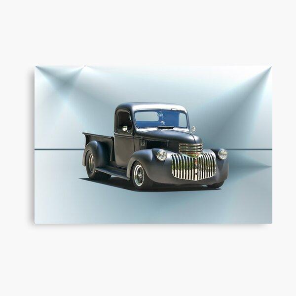 1942 Chevy Pick-Up 'Black Satin' Canvas Print