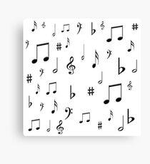 Music Notes & Symbols Canvas Print