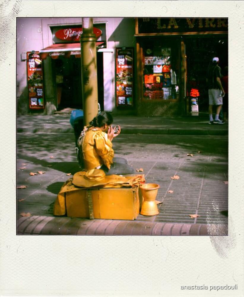 the street artist by anastasia papadouli