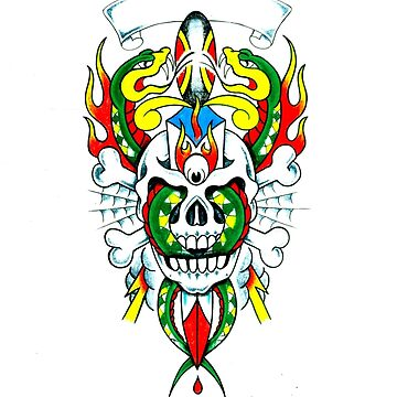 Snakes & Skull by smeerlamorte