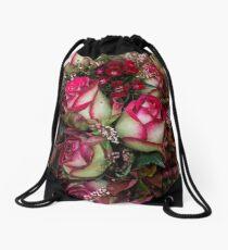 Two Tone Roses Drawstring Bag