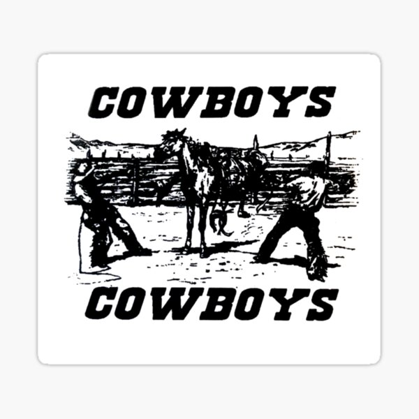 autocollants autocollants de cowboys brandy Sticker