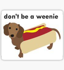 wiener dog Sticker