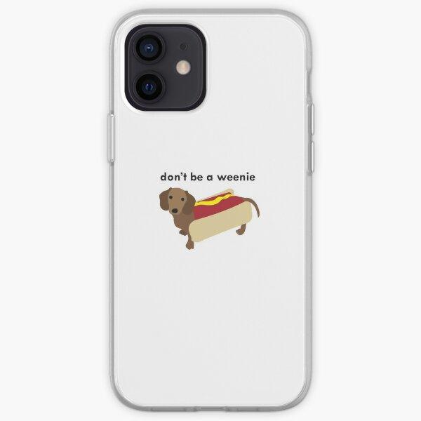 pequeño perro salchicha Funda blanda para iPhone