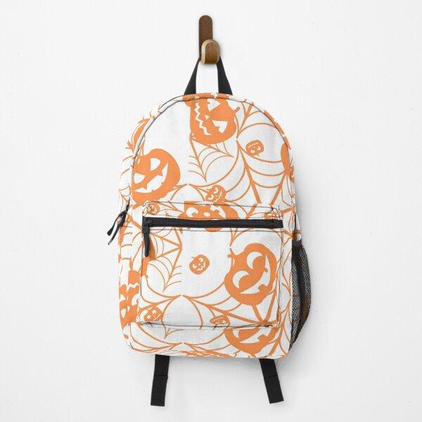 Spooky Pumpkin Halloween Web Backpack
