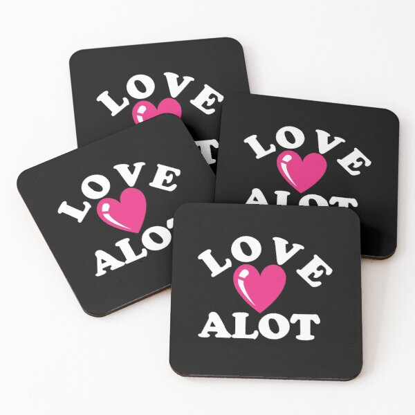 Love Alot With Heart Coasters (Set of 4)