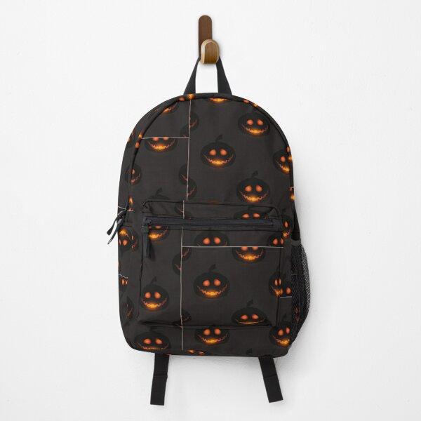 Spooky Dark Pumpkin Halloween  Backpack