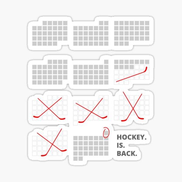 Hockey Is Back Sticker