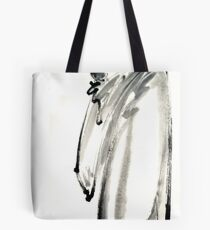 Buddhist monk with a bowl zen calligraphy 禅 original ink painting artwork Tote Bag