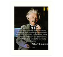 Albert Einstein Imagination Art Print