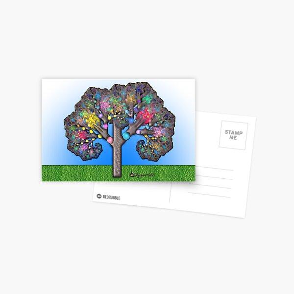 Fractal Tree Postcard