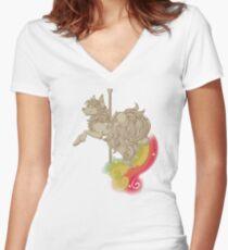 Vintage Sparkle Women's Fitted V-Neck T-Shirt