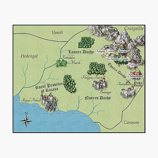 Monparth Map Photographic Print