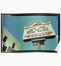 Las Vegas Neon Sign in Kodachrome Poster