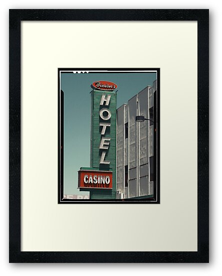 Las Vegas Hotel Neon Sign in Kodachrome by Reinvention