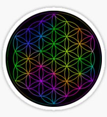 Flower Of Life Rainbow Sticker