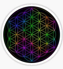 Flower Of Life Rainbow Sticker