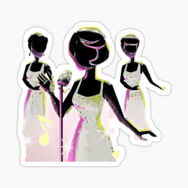 The Supremes live on the stage Sticker
