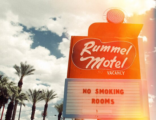 Las Vegas Motel Neon Sign in Kodachrome  by Reinvention