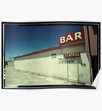 Las Vegas Bar Neon Sign in Kodachrome Poster