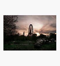 Abandoned fun fair, amusement park in East Berlin Photographic Print