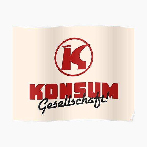 Konsum Genossenschaft Logo Parodie Poster