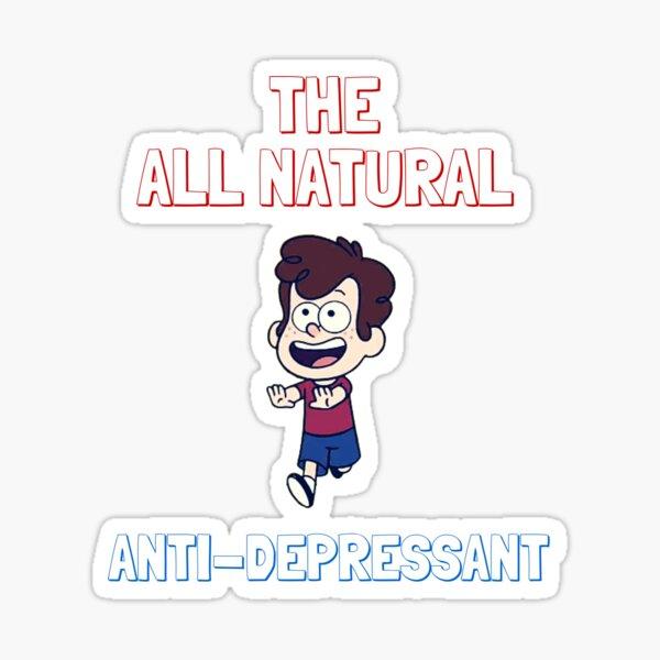 All Natural Anti-Depressant Sticker
