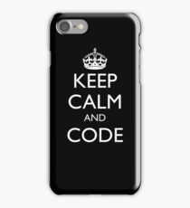 KEEP CALM AND CODE (iPhone cover) iPhone Case/Skin