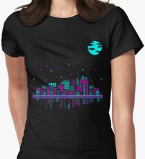 Pixelated Dreams Womens Fitted T-Shirt
