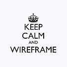 KEEP CALM AND WIREFRAME (iPad cover) by fayafshar