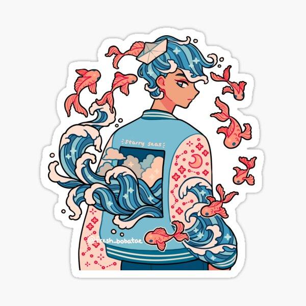 wave boy Sticker