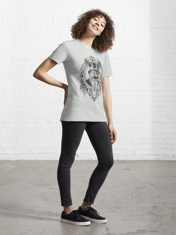 Alternate view of Hipster Mustache Cat Essential T-Shirt