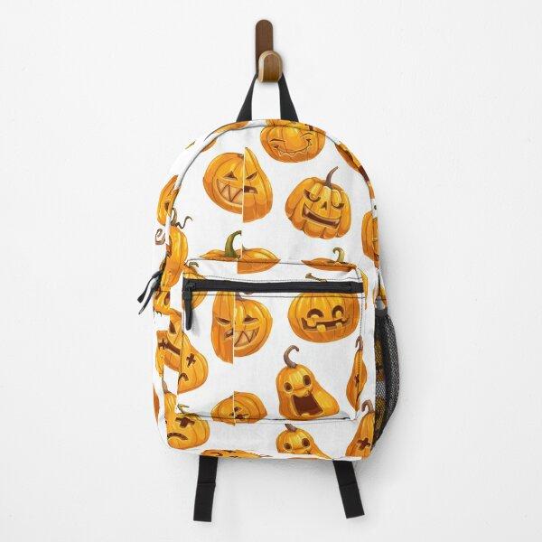 Emoji Pumpkin halloween design Backpack