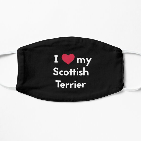 Scottish Terrier Mask, Scottie Dog Mask, I Love  Scottish Terrier mask, Mask