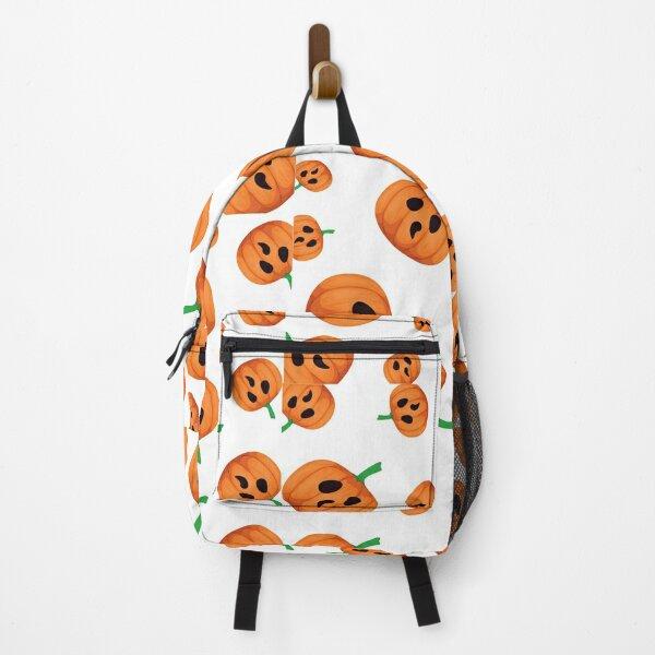 Funny No Mouth Pumpkin halloween design Backpack