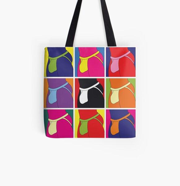 Pop Art Jockstrap Nine All Over Print Tote Bag
