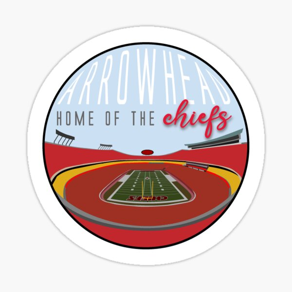 home of the CHIEFS  Sticker