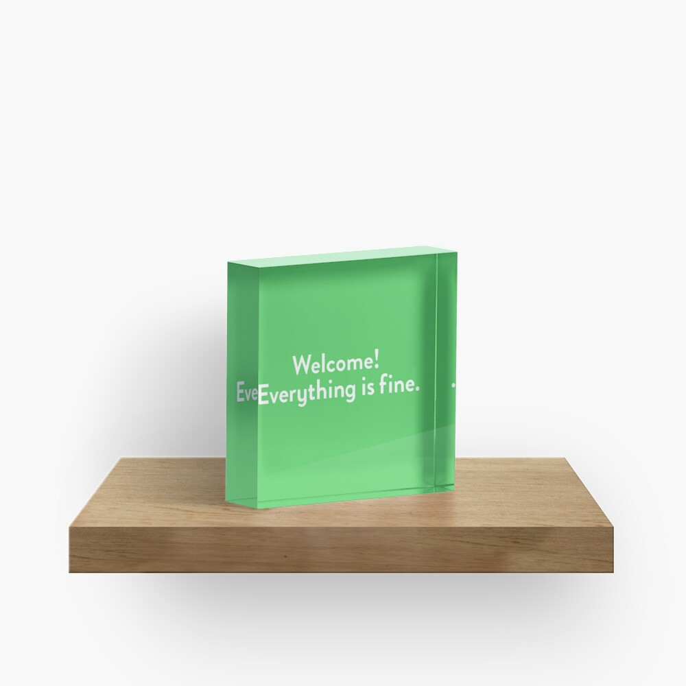 Welcome! Everything is fine. Acrylic Block