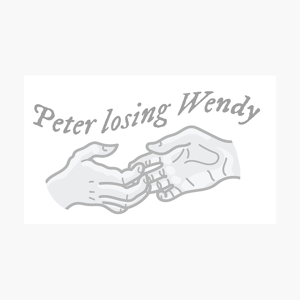 Cardigan Lyric Peter Losing Wendy Poster By Laughingplace55 Redbubble