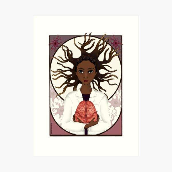 Woman in Neuroscience Art Print