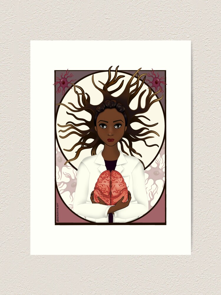 Alternate view of Woman in Neuroscience Art Print